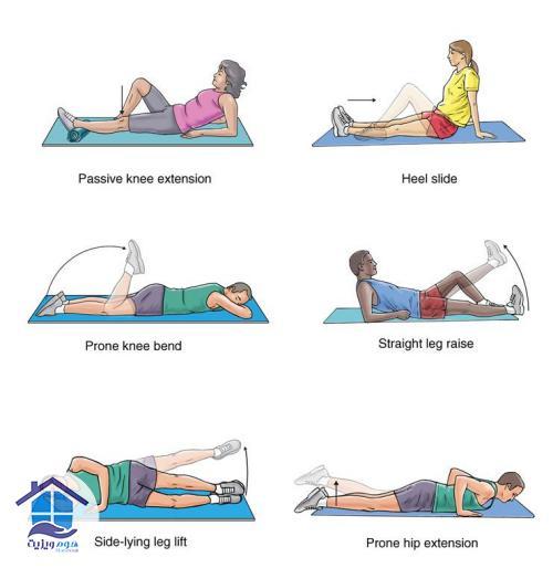 تمرینات کششی زانو