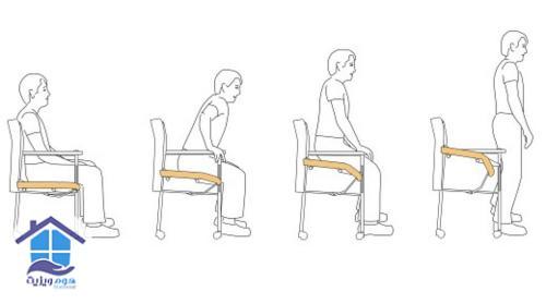 نحوه صحیح بلندشدن از صندلی